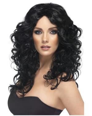 Musta glamour-peruukki