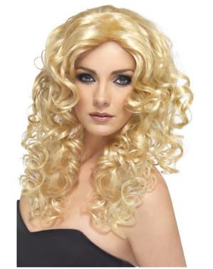 Гламурната блондинка перука