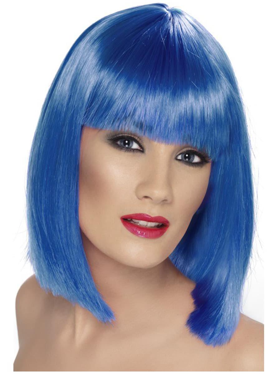 Perruque glamour bleu avec une frange pour d guisement for Juives portent une perruque