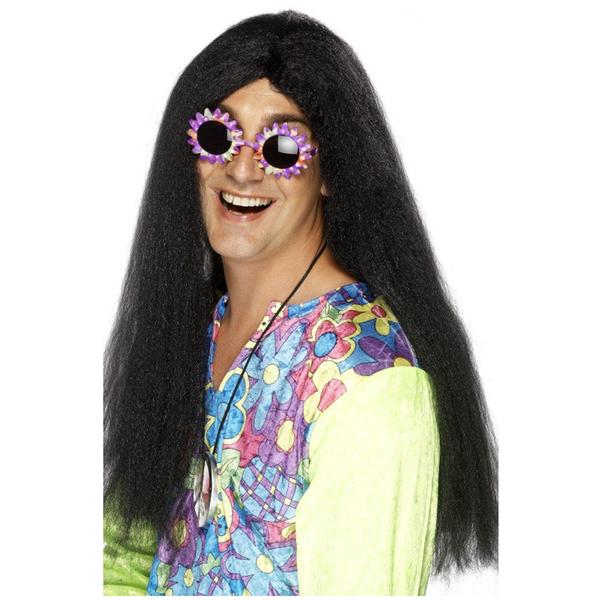 Oferta: Peluca hippie negra