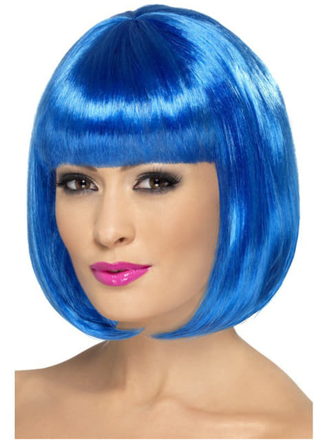 Peruka partyrama niebieska