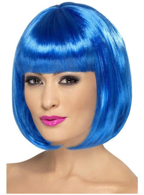 Sininen partyrama peruukki