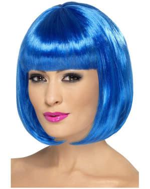 Blauwe Partyrama Pruik