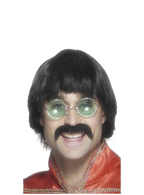 The Beatles Wig and Moustache