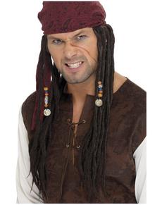 Peluca y pañuelo de pirata