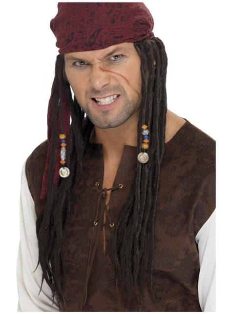 Peruca com lenço pirata