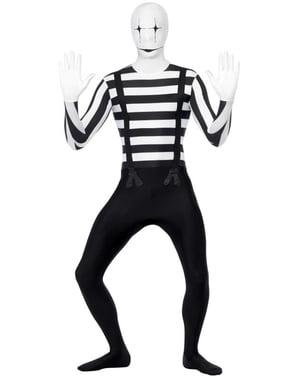 Hudtett Mime Kostyme
