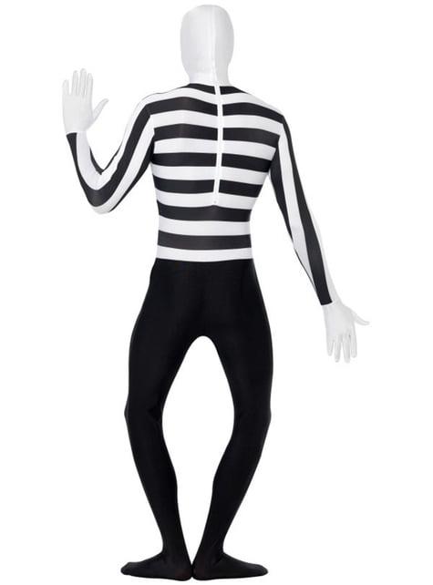 Disfraz de mimo segunda piel - Halloween