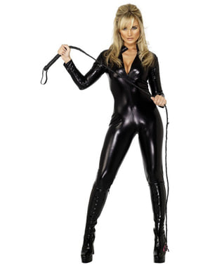 Frøken Sexy Pisk Kostyme