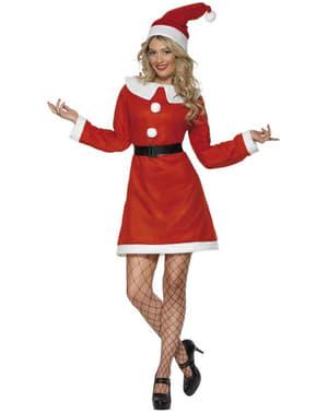 Déguisement de Miss Santa deluxe pour femme