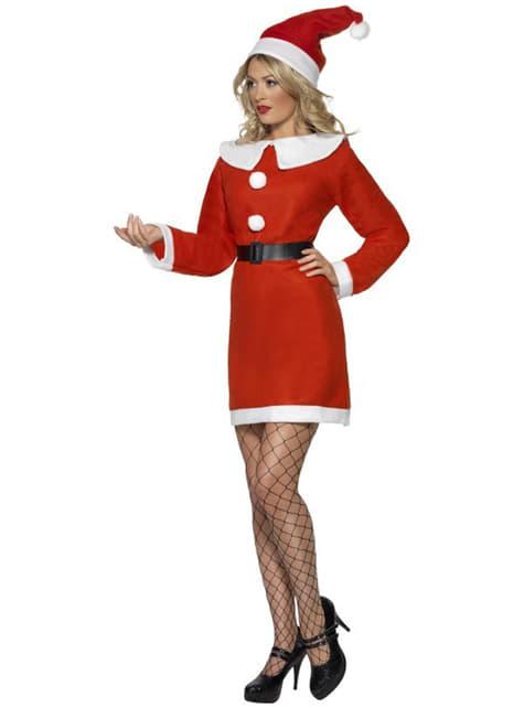Disfraz de Miss Santa deluxe - traje