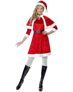 Costume da Miss Santa con mantello