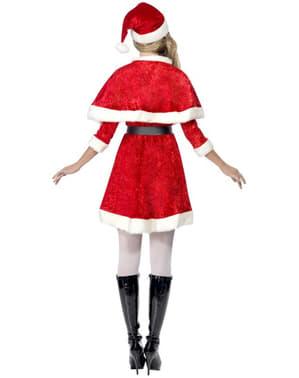 Disfraz de Miss Santa con capa
