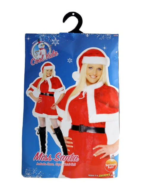 Weihnachtsfrau Kostüm mit Umhang