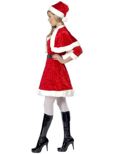 Costum Miss Santa cu glugă