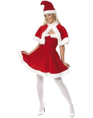 Miss Santa Deluxe Kostyme med Kappe