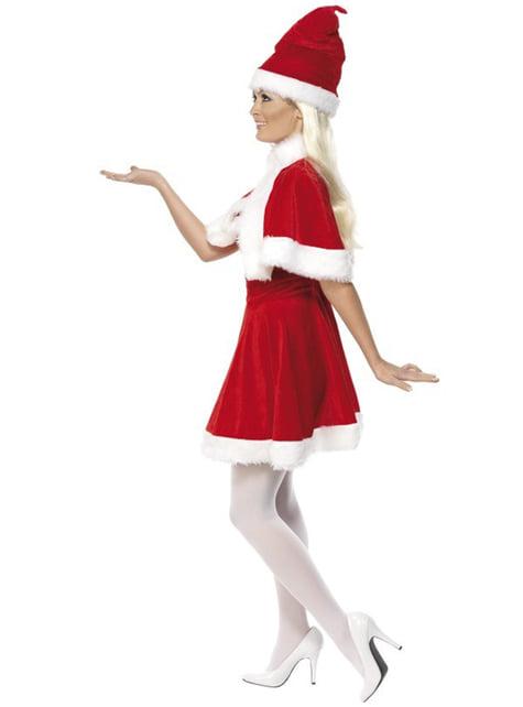 Disfraz de Miss Santa con capa deluxe - original