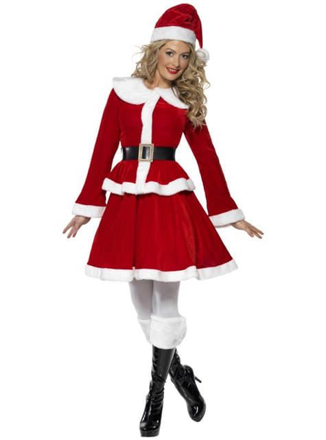 Szexi deluxe Miss Santa jelmez