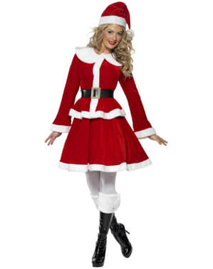 Sexy deluxe Miss Santa costume
