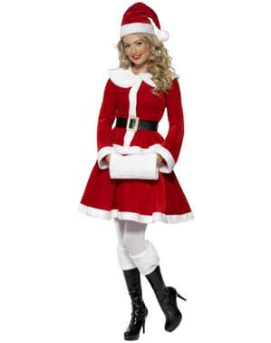 Σέξυ πολυτελές κοστούμι Miss Santa