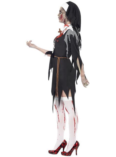 Disfraz de monja zombie XL - original