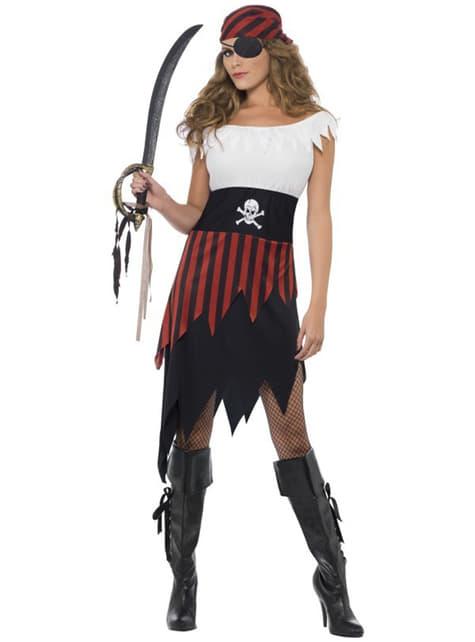 Fato de moça pirata