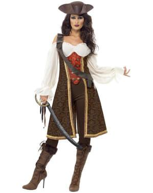 Goed Uitziend Hoge Zeeën Piraat Kostuum voor vrouw