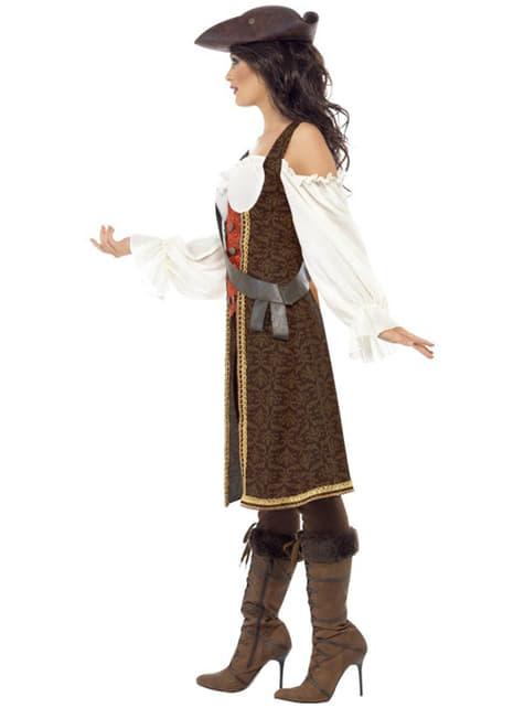 Fato de moça pirata de alto mar