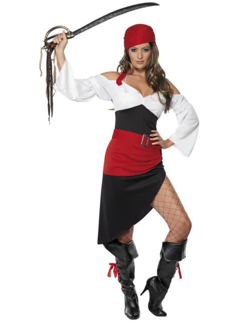 Disfraz de moza pirata descarada