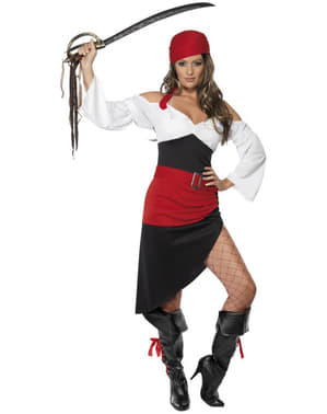 Pen Cheeky Pirat Kostyme til Dame