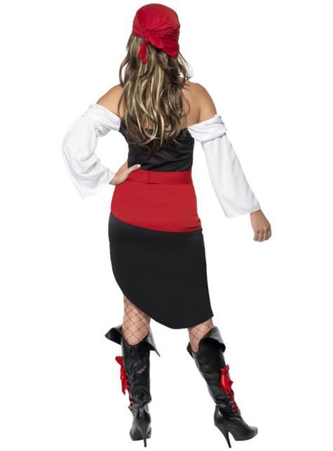 Disfraz de moza pirata descarada - mujer
