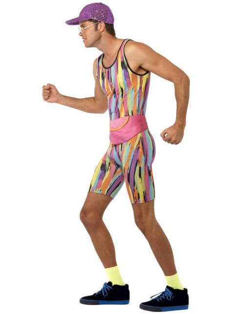 Pánsky kostým na cvičenie v štýle 80. rokov