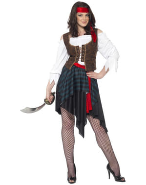 Fato de mulher pirata clássica
