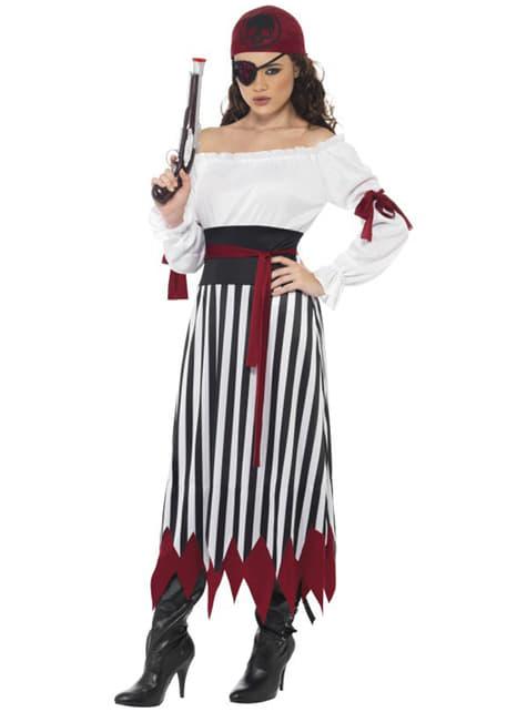 Stridslysten Kvinnlig Pirat Maskeraddräkt