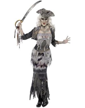 Spökskepp kvinnlig pirat Maskeraddräkt