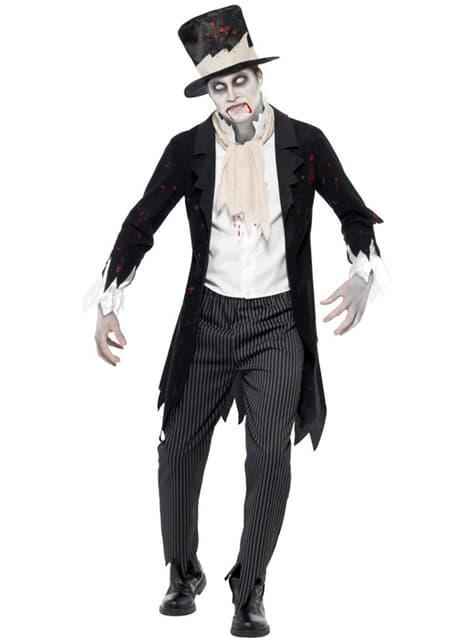 Disfarce de noivo zombie