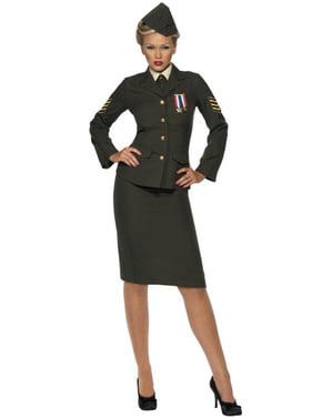 Déguisement d'officier de guerre pour femme