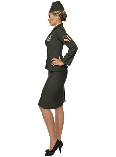 Disfraz de oficial de guerra para mujer - original