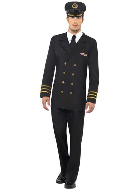 Déguisement d'officier de la marine pour homme