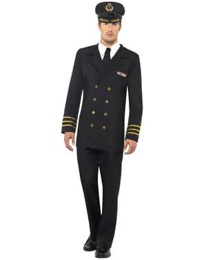 Søofficer kostume til mænd