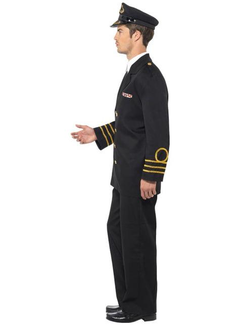 Haditengerészeti tiszt jelmez férfiaknak
