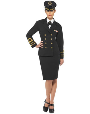 Kostium klasyczny marynarski damski