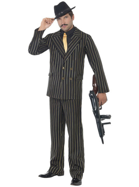 Kostium gangster w złote pasy