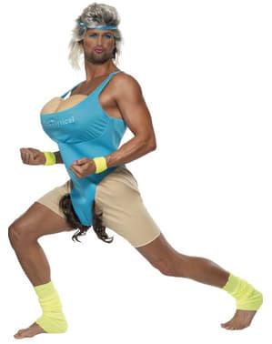 Disfraz de tía gimnasta para hombre