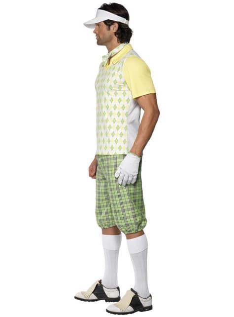 Disfarce de golfista para homem