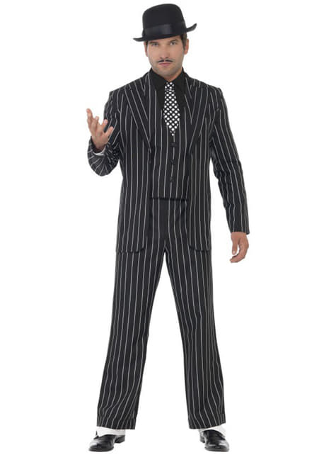 Disfraz de gángster años 20
