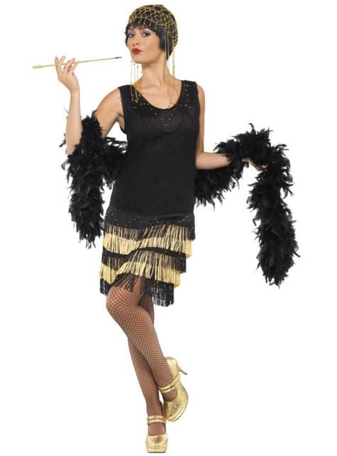 Costum tânăr moda anilor 20 cu franjuri