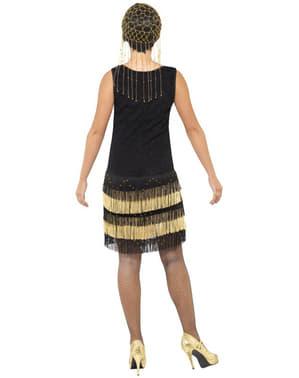 Kostium modnisia z lat 20'tych z frędzlami