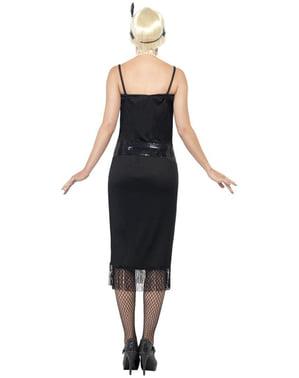 Déguisement de jeune à la mode des années 20 en noir