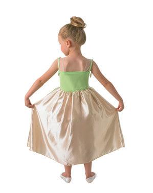 लड़कियों के लिए डीलक्स टियाना पोशाक - राजकुमारी और मेंढक